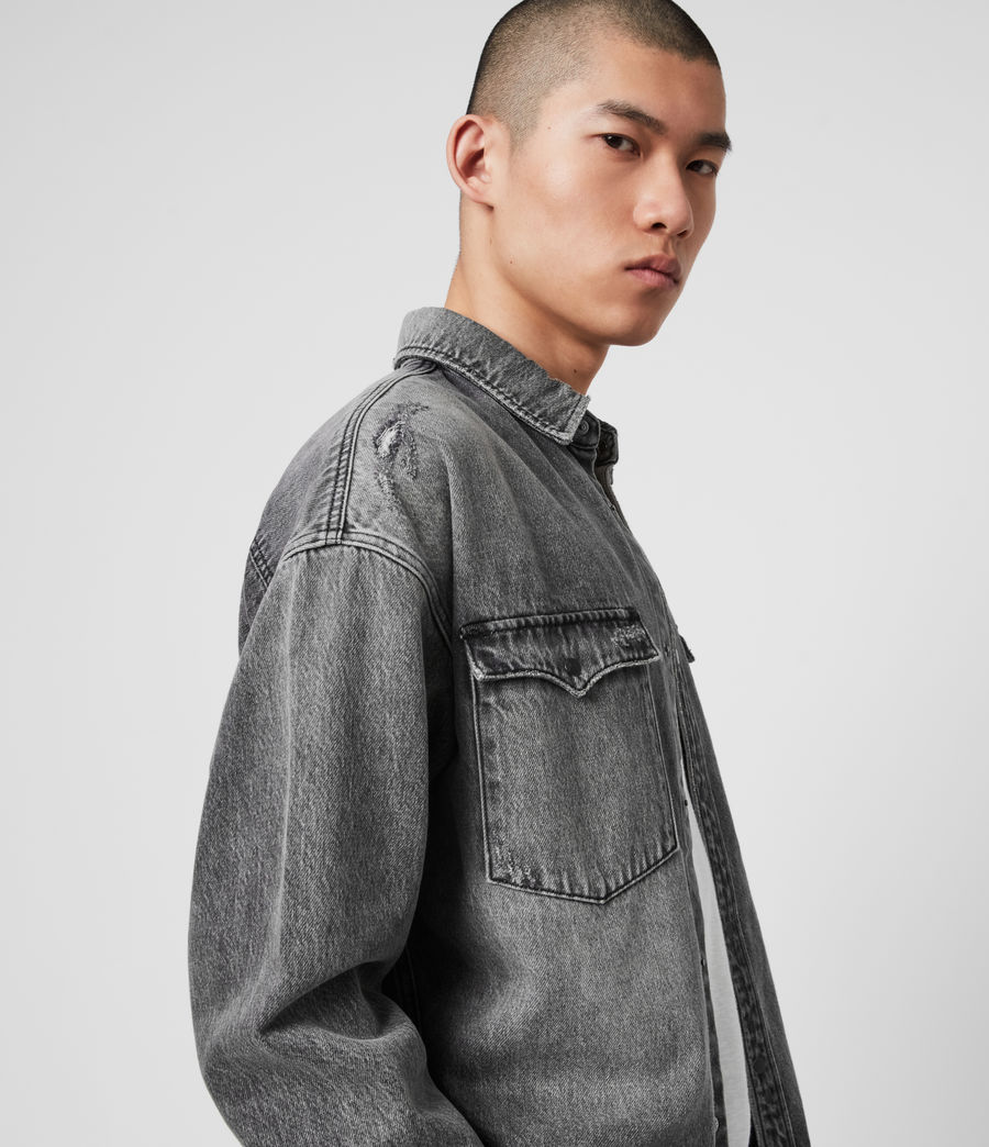 Mens Dore Denim Shirt (washed_black) - Image 2