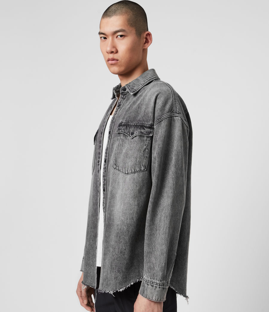Mens Dore Denim Shirt (washed_black) - Image 4