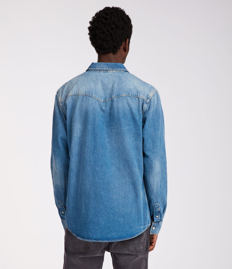 Men's Imonum Shirt (indigo) - Image 5