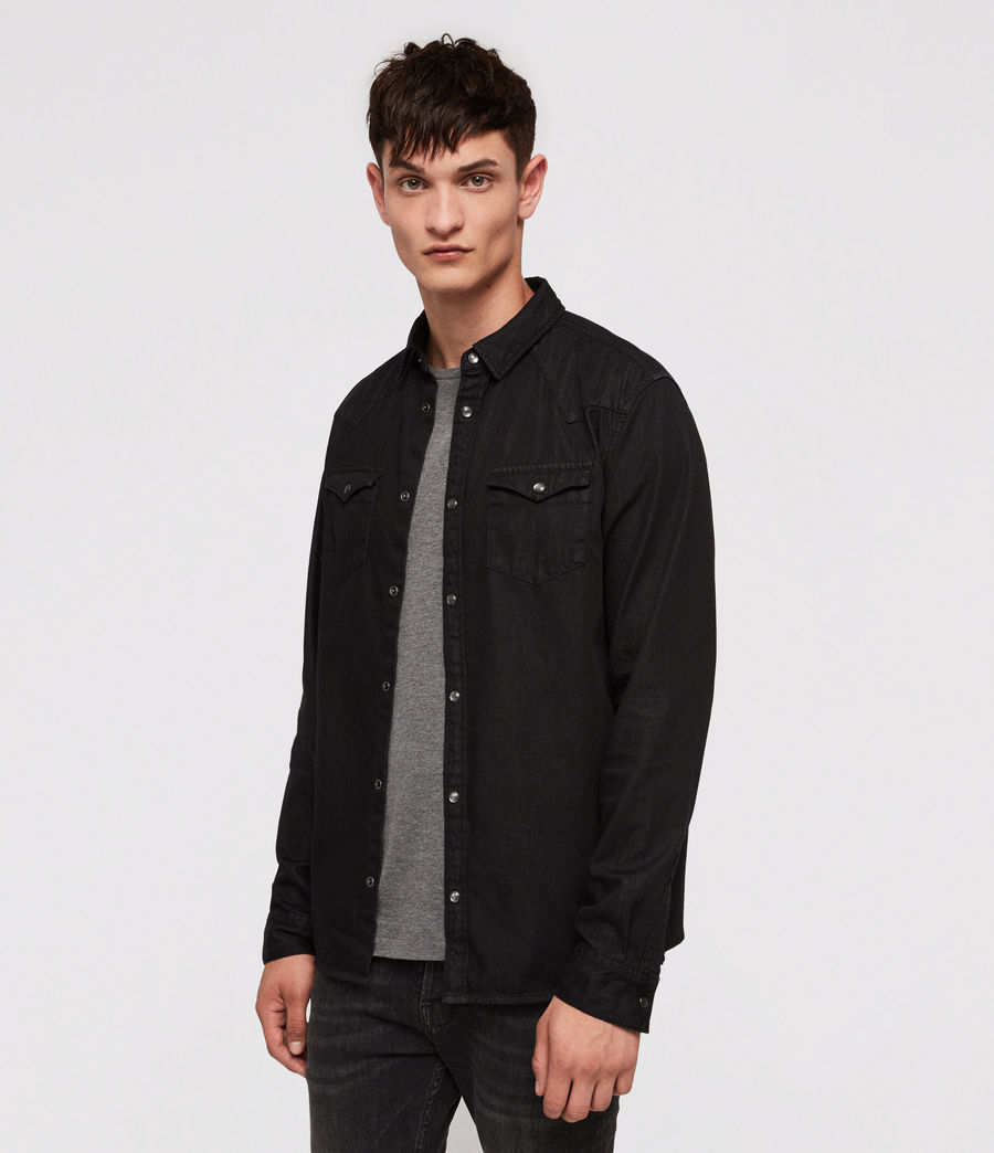 Men's Bramble Shirt (black) - Image 1