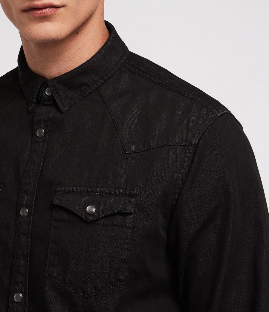 Men's Bramble Shirt (black) - Image 2