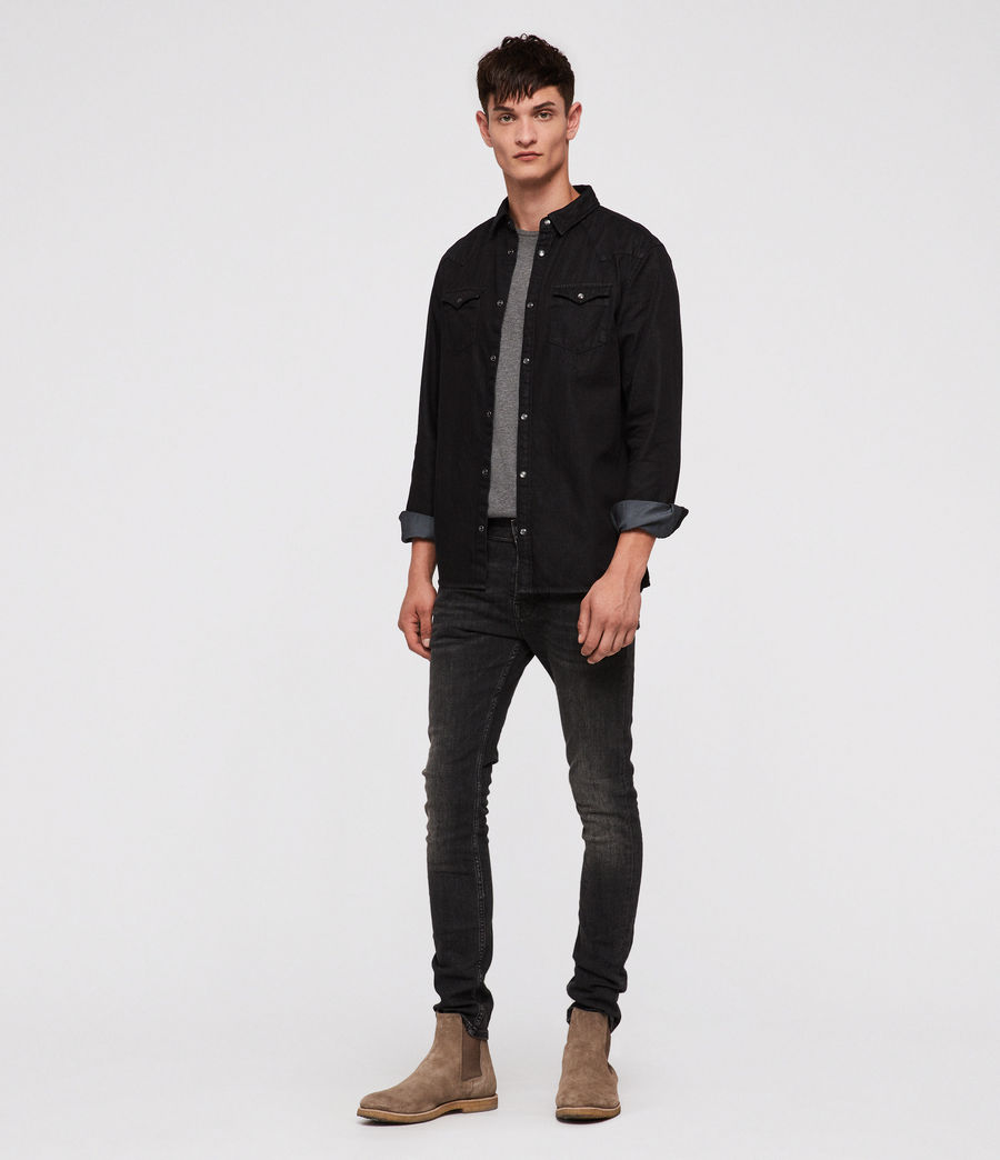 Men's Bramble Shirt (black) - Image 3