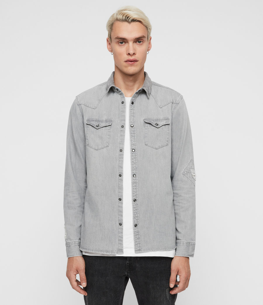 Mens Giro Denim Shirt (grey) - Image 1
