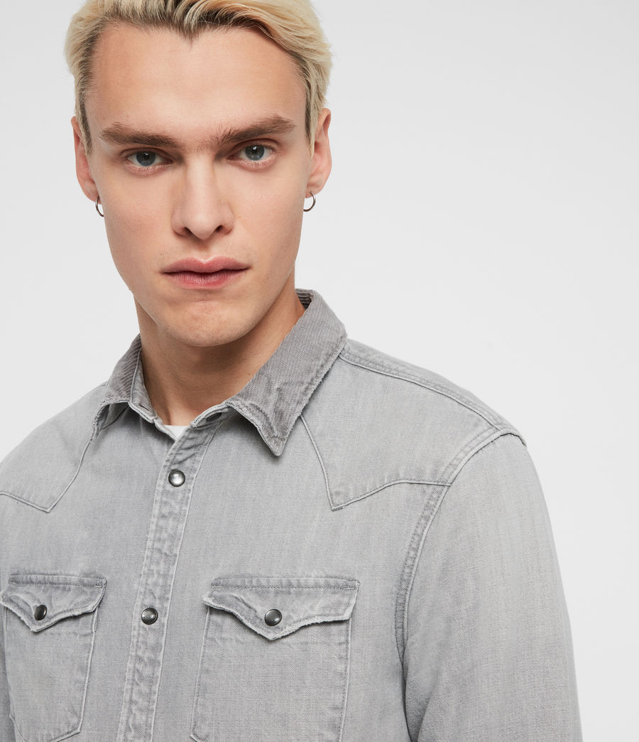 Mens Giro Denim Shirt (grey) - Image 2