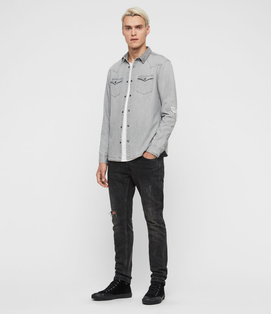Mens Giro Denim Shirt (grey) - Image 3