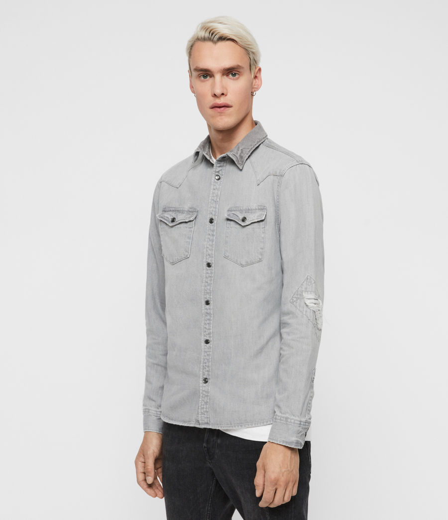 Mens Giro Denim Shirt (grey) - Image 4