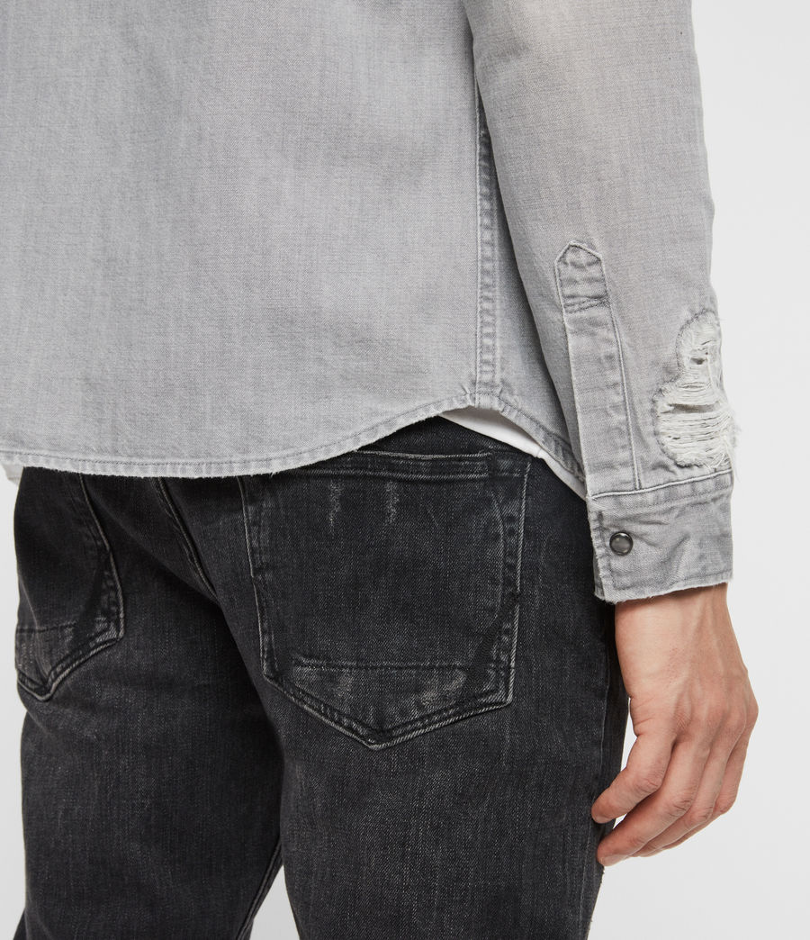 Mens Giro Denim Shirt (grey) - Image 5