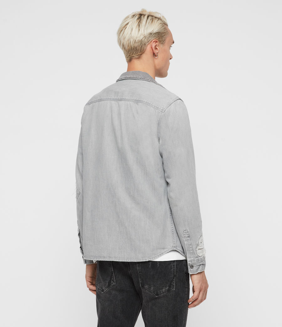 Mens Giro Denim Shirt (grey) - Image 6