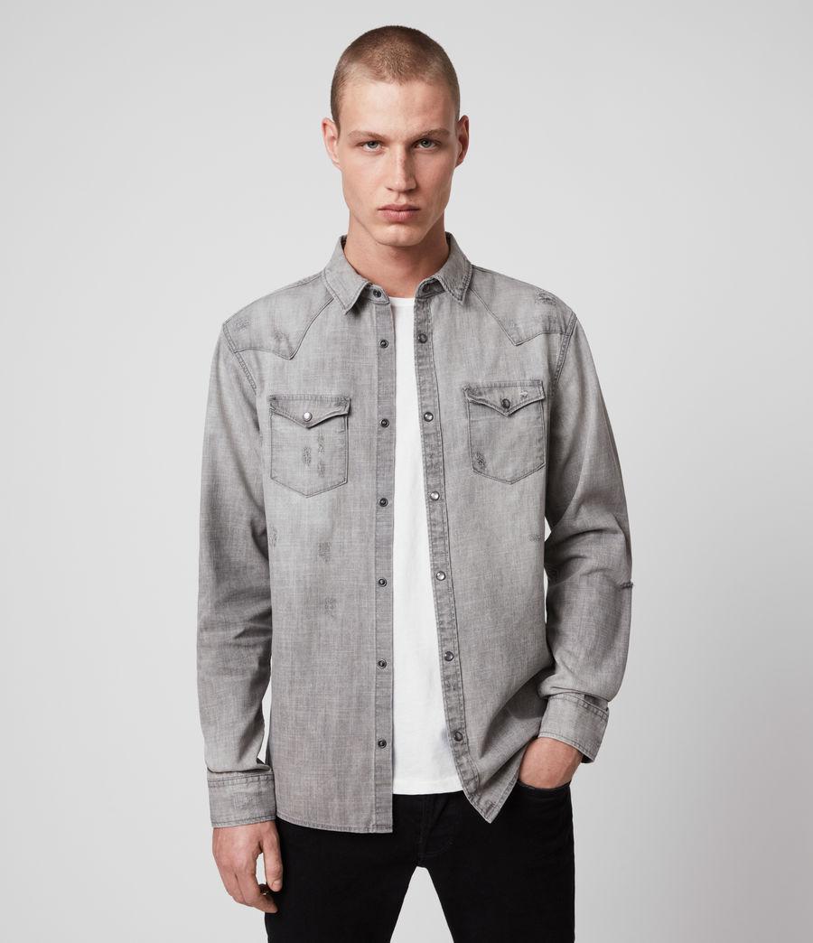 Hombre Rewa Denim Shirt (grey) - Image 1