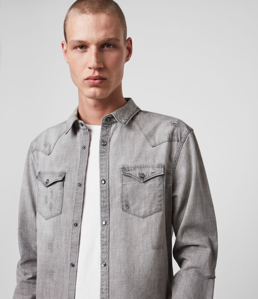 Hommes Rewa Denim Shirt (grey) - Image 2
