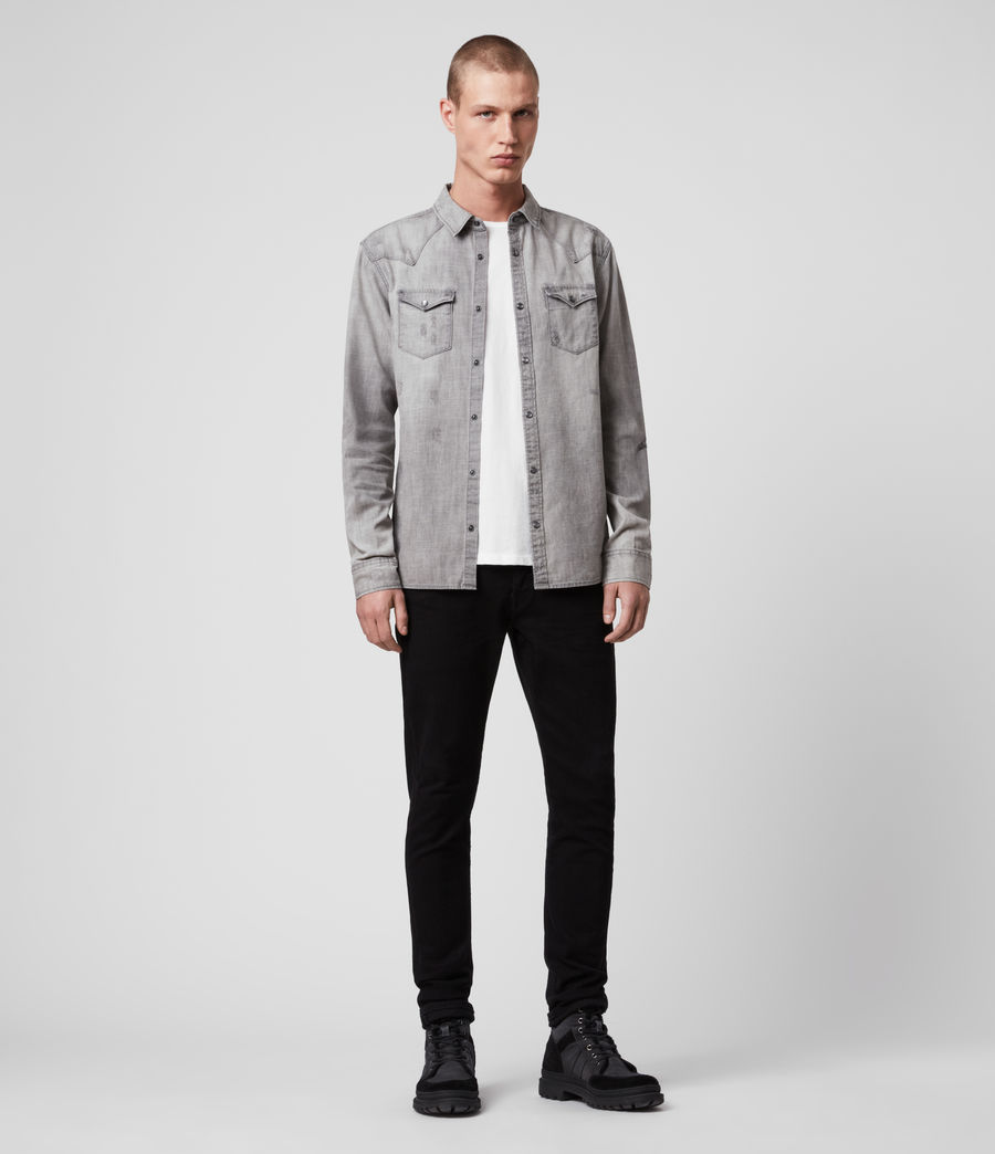 Hommes Rewa Denim Shirt (grey) - Image 3
