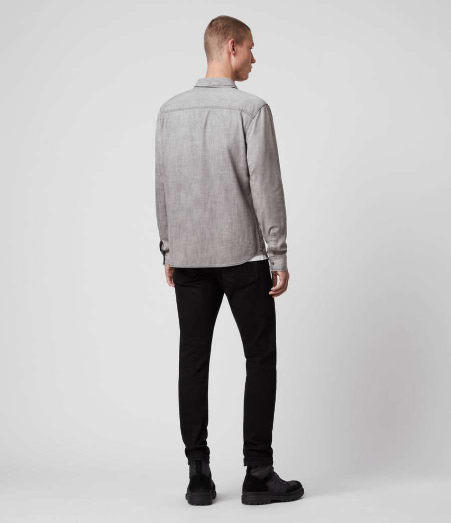 Hommes Rewa Denim Shirt (grey) - Image 4