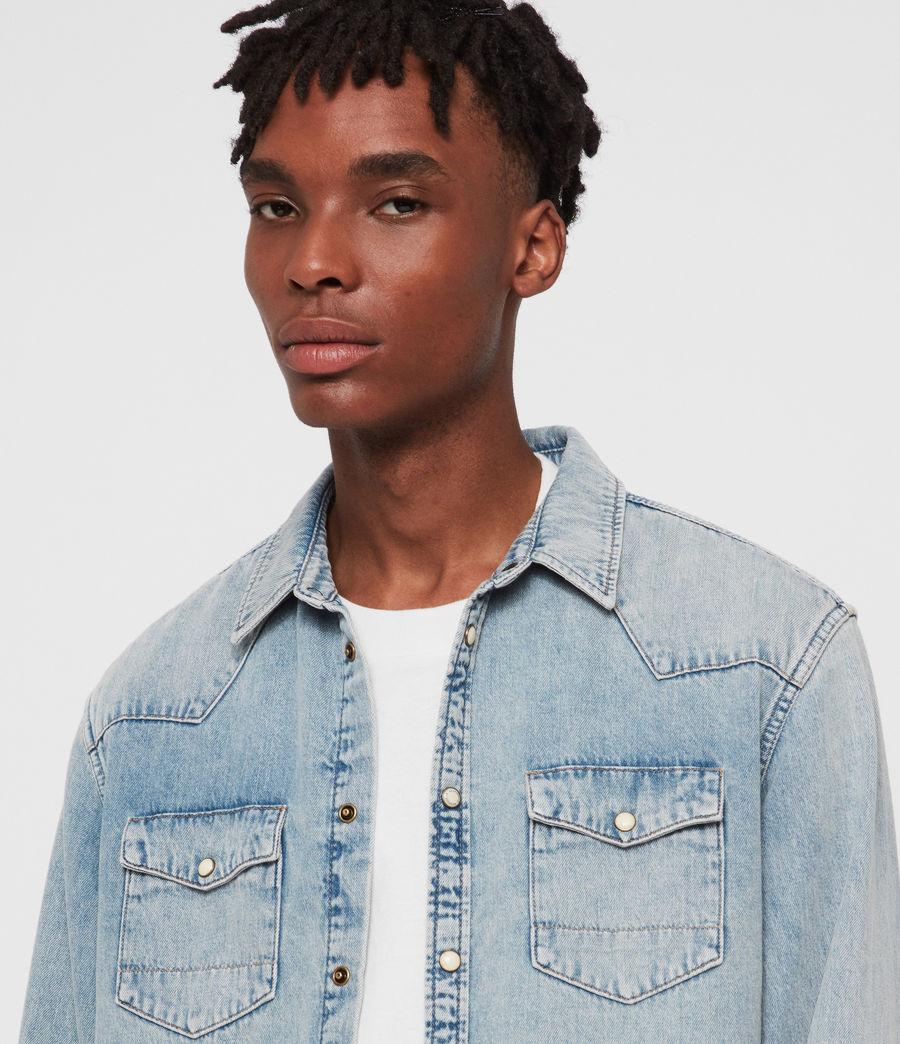 Mens Isuka Denim Shirt (light_indigo_blue) - Image 2