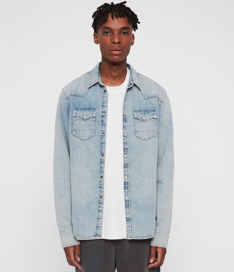 Mens Isuka Denim Shirt (light_indigo_blue) - Image 3