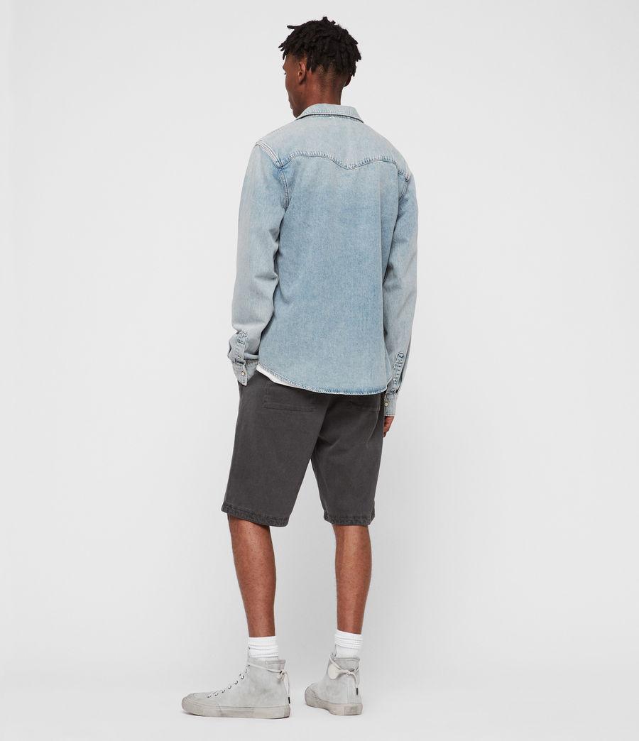 Mens Isuka Denim Shirt (light_indigo_blue) - Image 4
