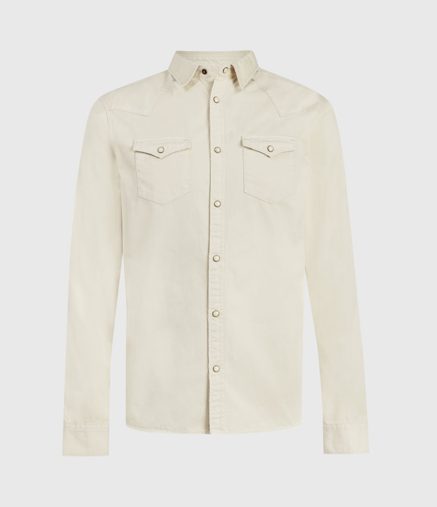 Mens Salur Denim Shirt (taupe) - Image 2
