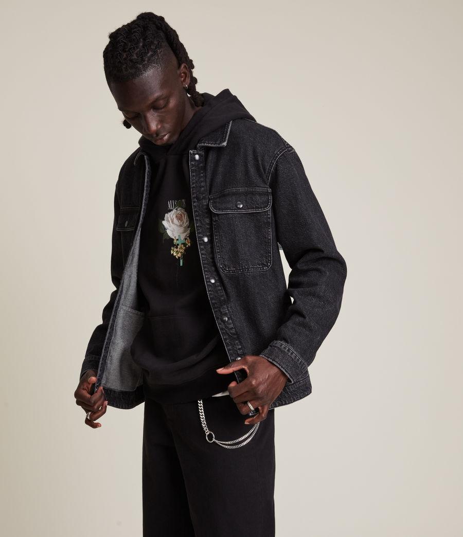Herren Brea Denim Shirt (washed_black) - Image 4
