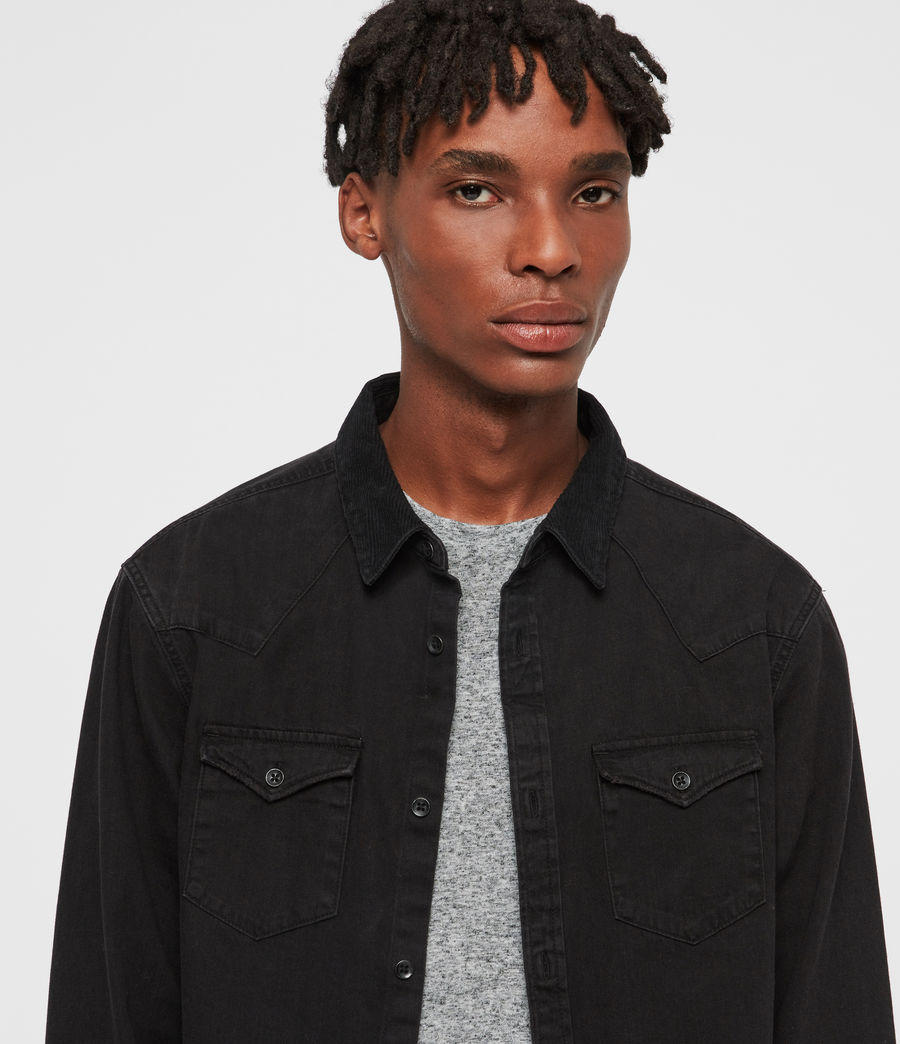 Mens Biso Denim Shirt (black) - Image 2