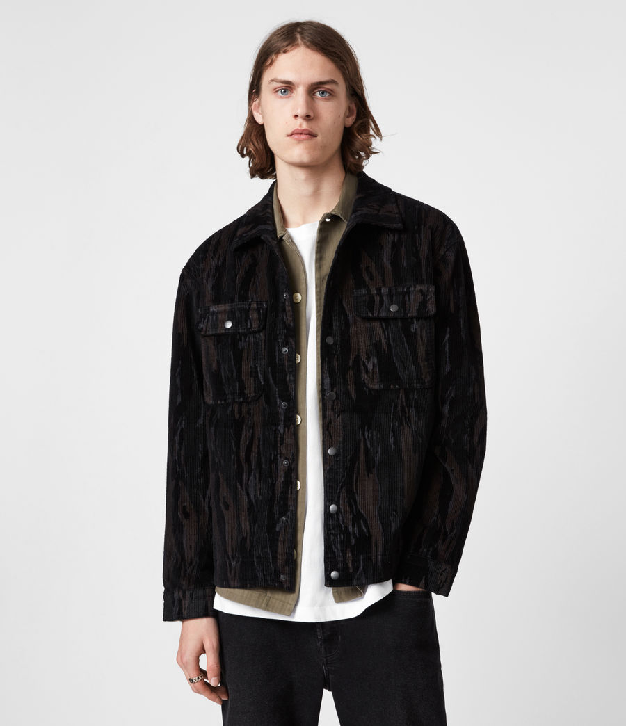 Men's Castleford Corduroy Shirt (black_camo) - Image 1