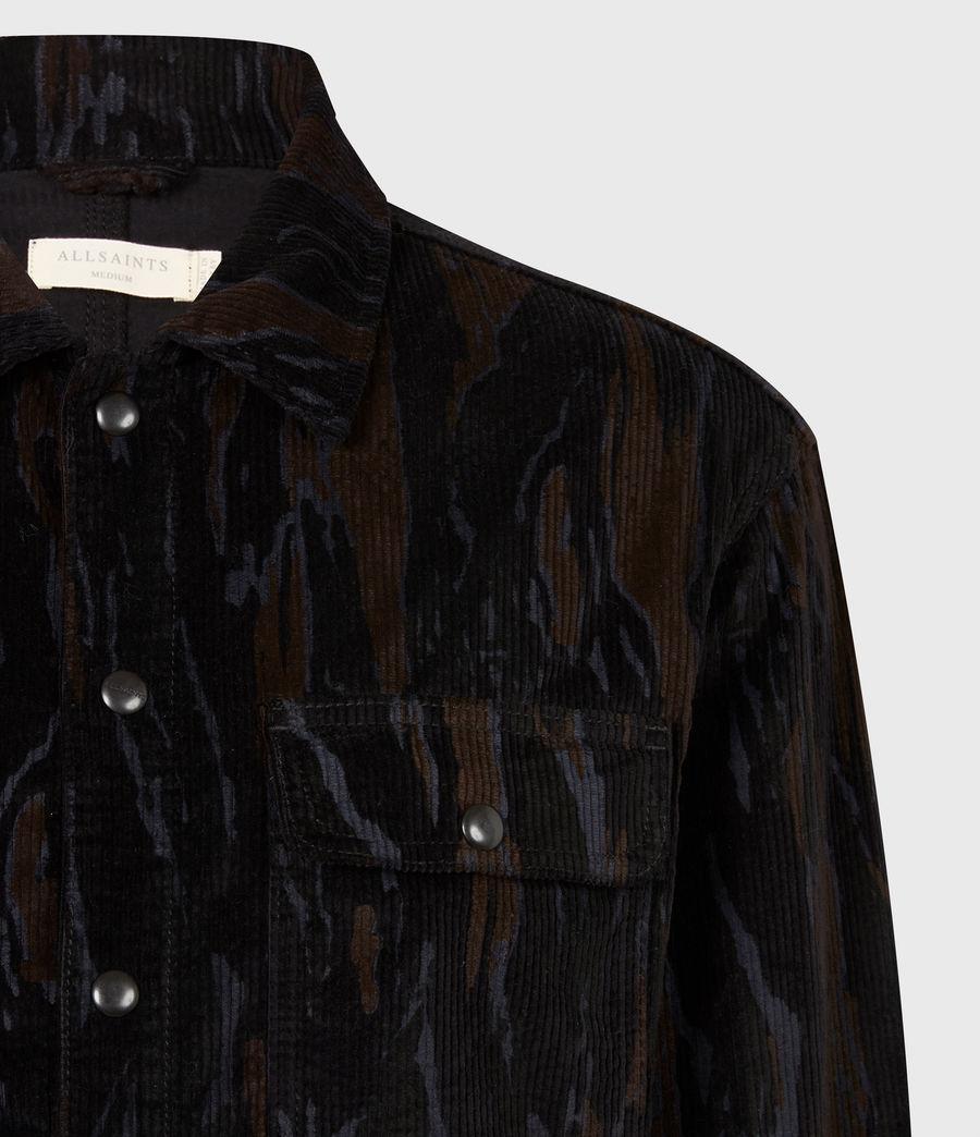 Men's Castleford Corduroy Shirt (black_camo) - Image 5
