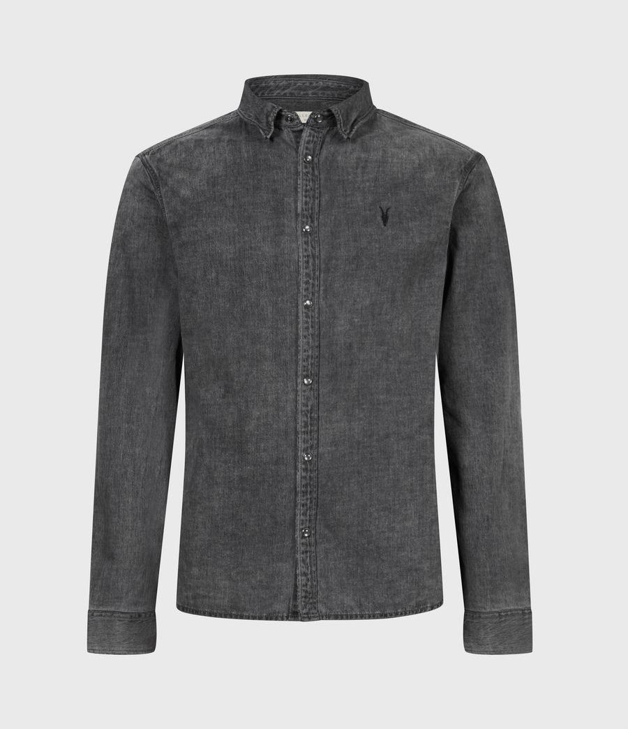 Mens Burlington Shirt (washed_black) - Image 2