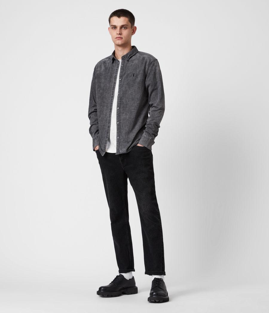 Mens Burlington Shirt (washed_black) - Image 4
