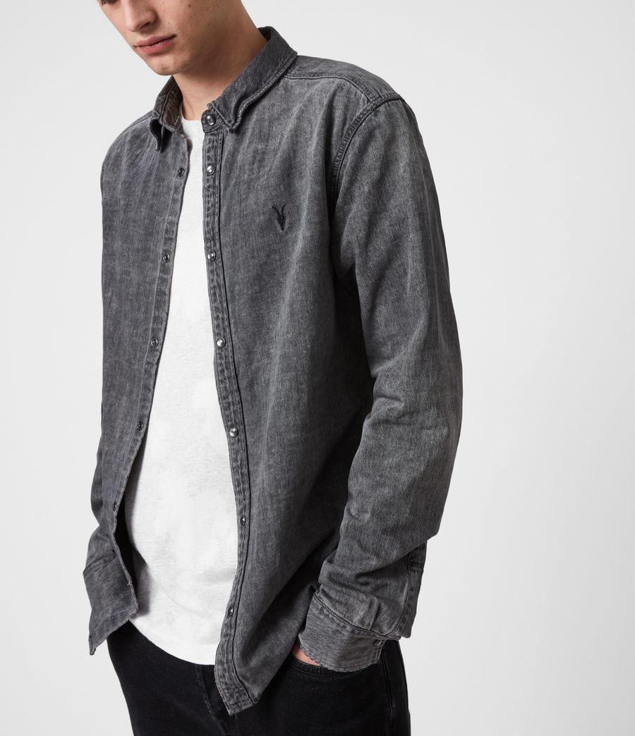 Mens Burlington Shirt (washed_black) - Image 5