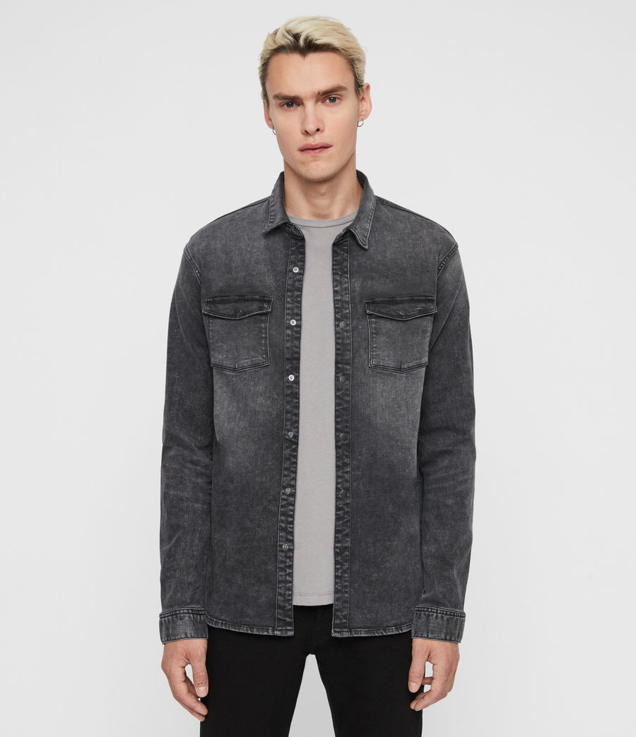 Men's Bisk Shirt (washed_black) - Image 1