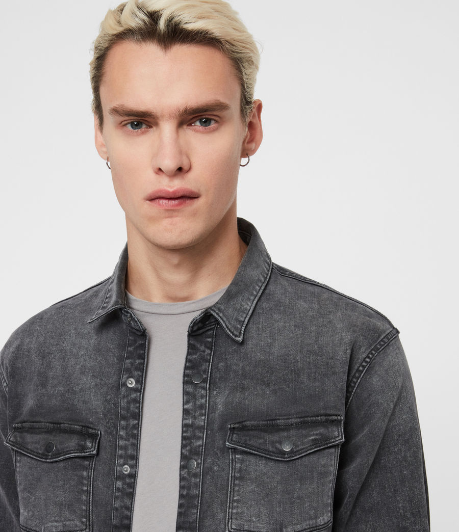 Men's Bisk Shirt (washed_black) - Image 2