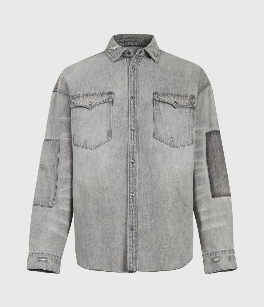 Uomo Solara Denim Shirt (grey) - Image 2