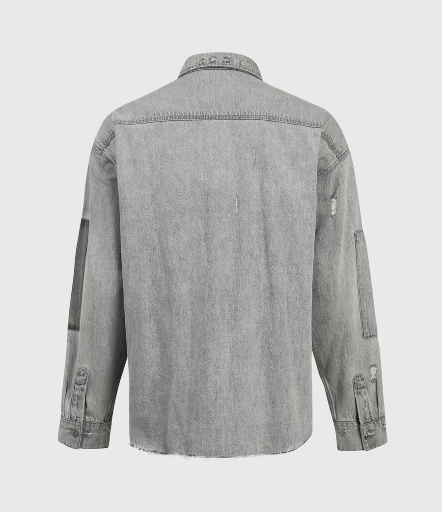Uomo Solara Denim Shirt (grey) - Image 3