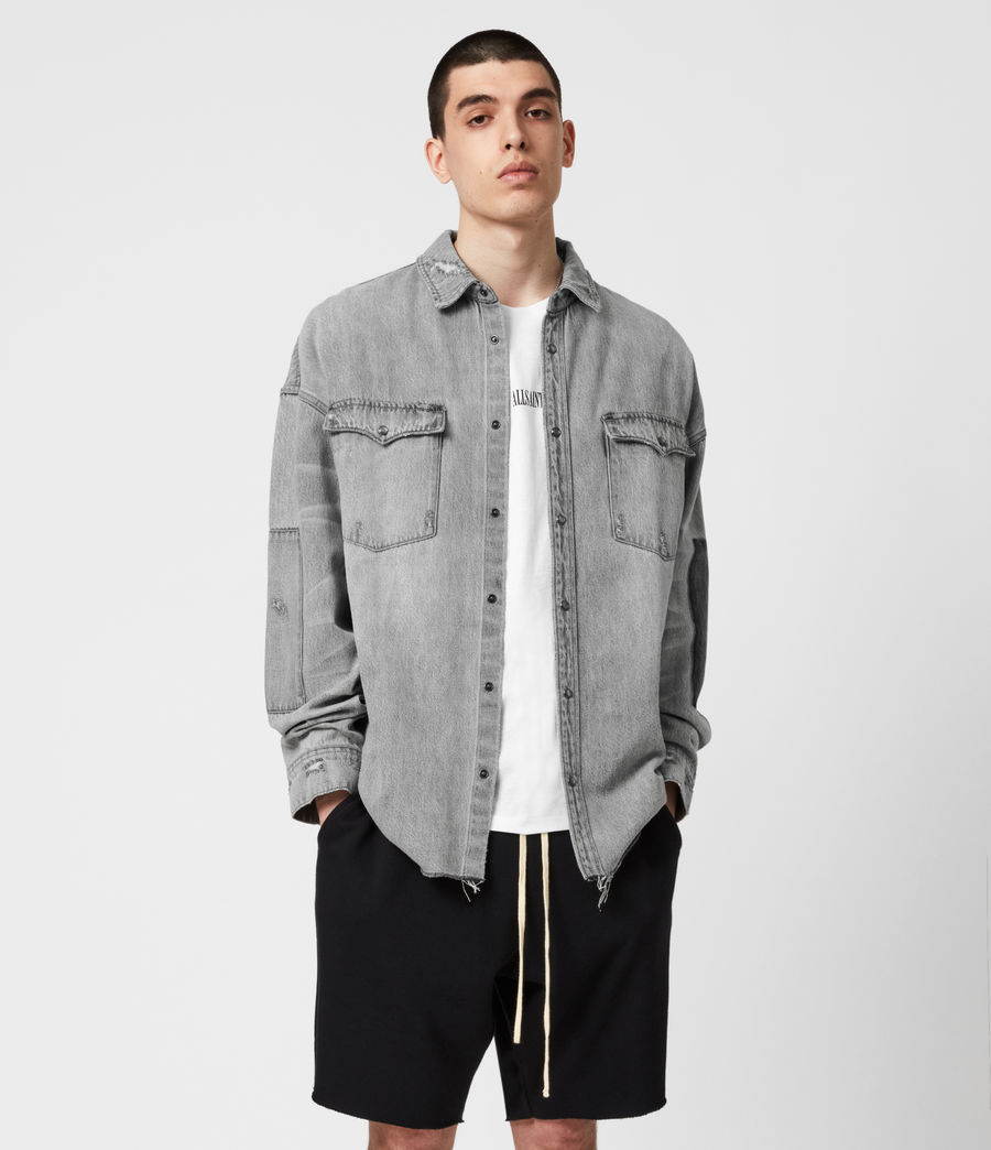 Uomo Solara Denim Shirt (grey) - Image 4