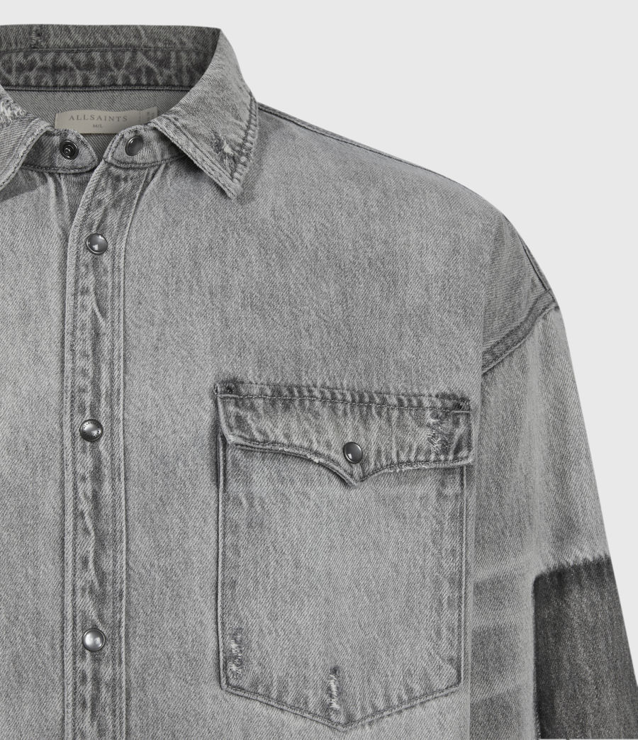 Uomo Solara Denim Shirt (grey) - Image 5