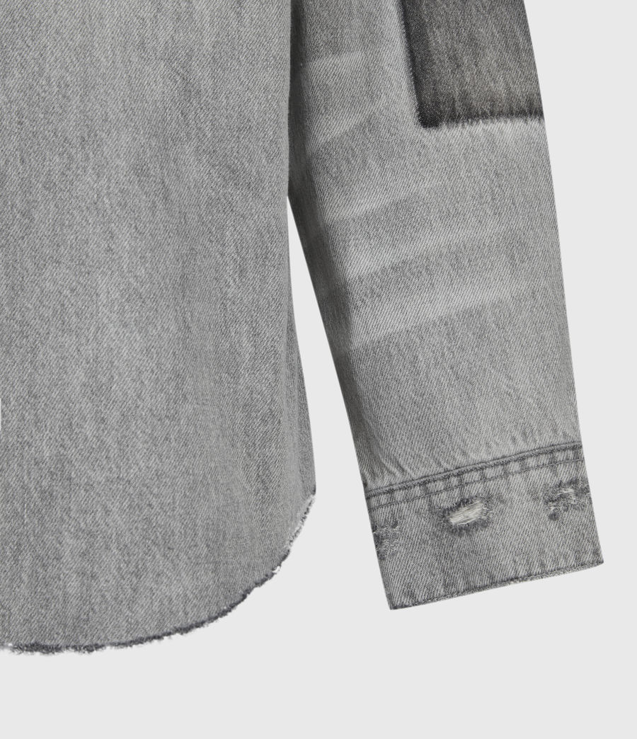 Uomo Solara Denim Shirt (grey) - Image 6