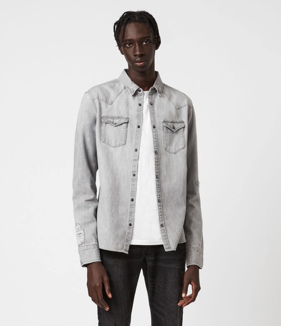 Men's Drayson Denim Shirt (grey) - Image 1