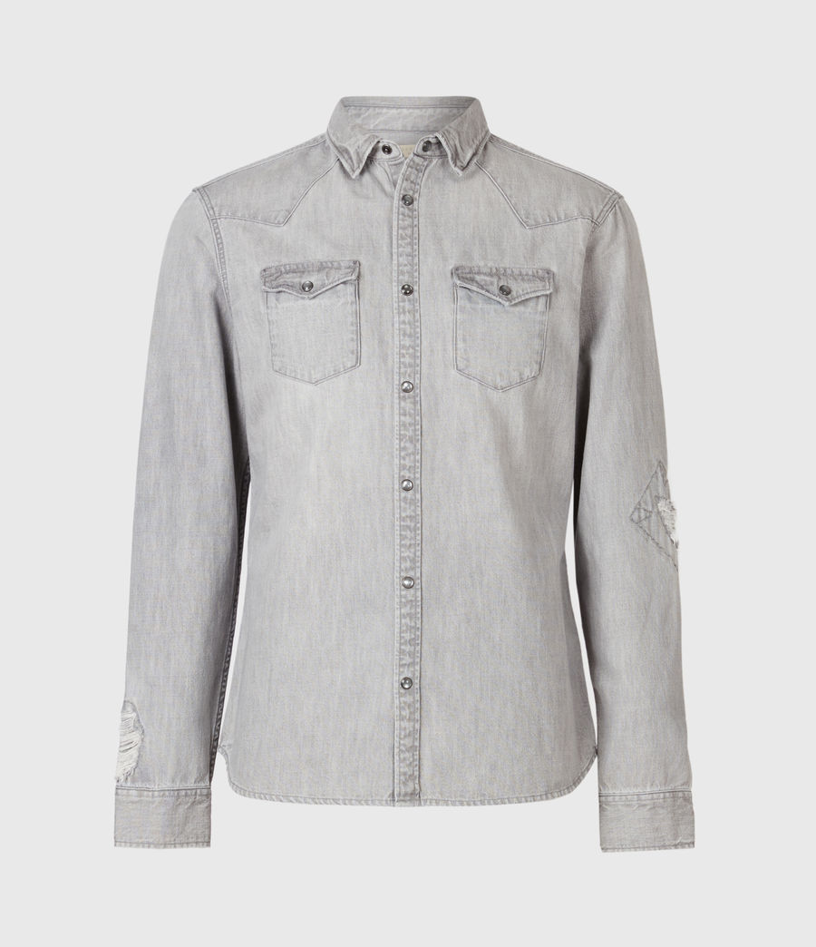 Men's Drayson Denim Shirt (grey) - Image 2