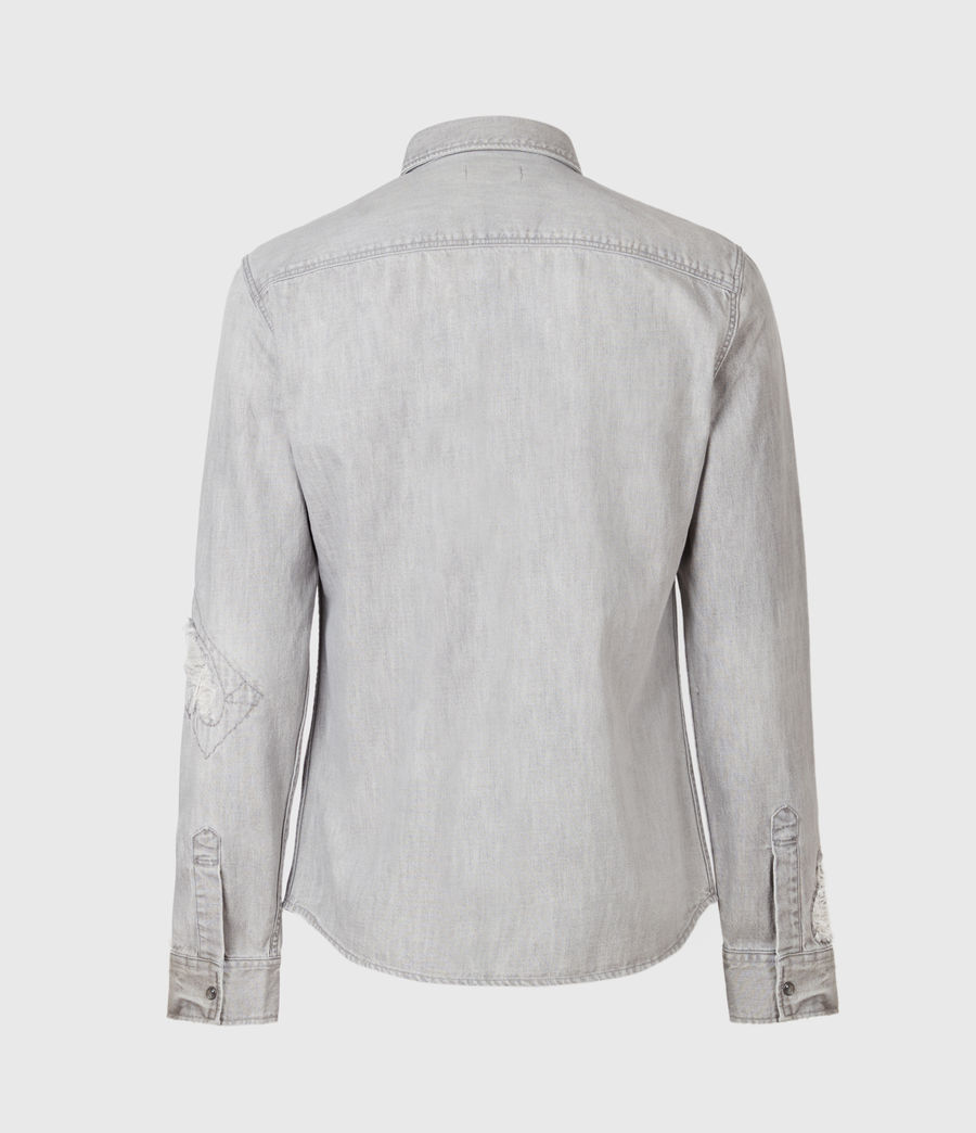 Men's Drayson Denim Shirt (grey) - Image 3