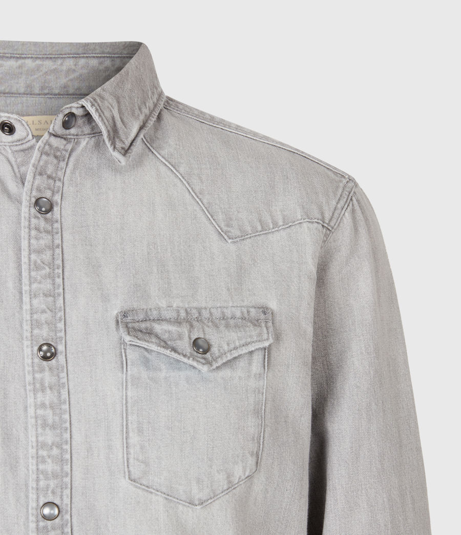 Mens Drayson Denim Shirt (grey) - Image 4