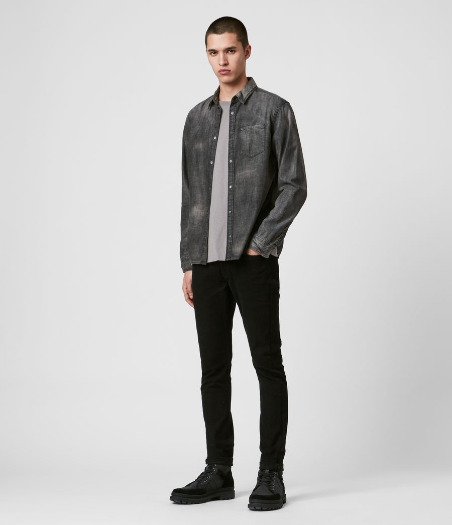 Herren Garforth Hemd (washed_black) - Image 3