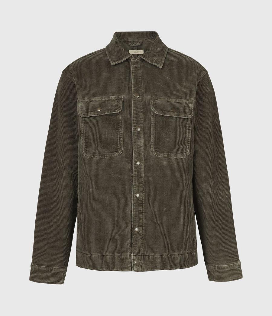 Mens Castleford Corduroy Overshirt (khaki) - Image 2