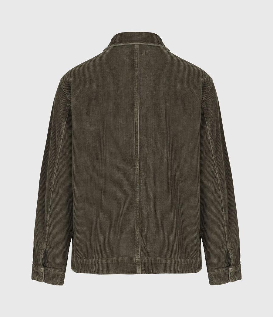 Mens Castleford Corduroy Overshirt (khaki) - Image 3
