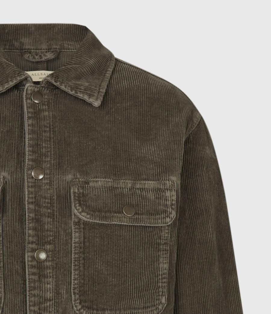 Mens Castleford Corduroy Overshirt (khaki) - Image 5