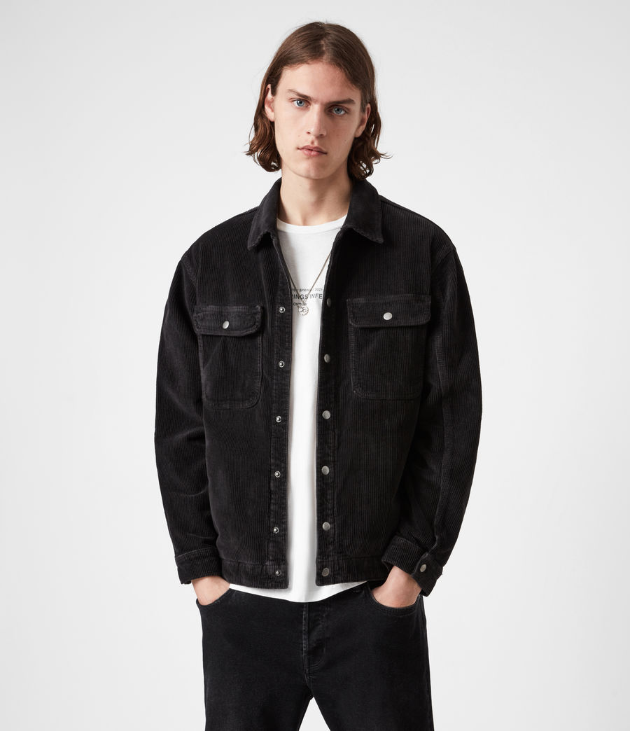 Men's Castleford Corduroy Overshirt (black) - Image 1