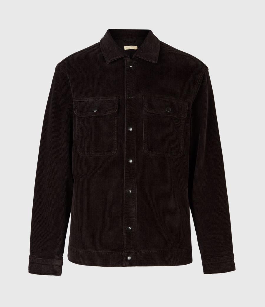 Mens Castleford Corduroy Overshirt (black) - Image 3