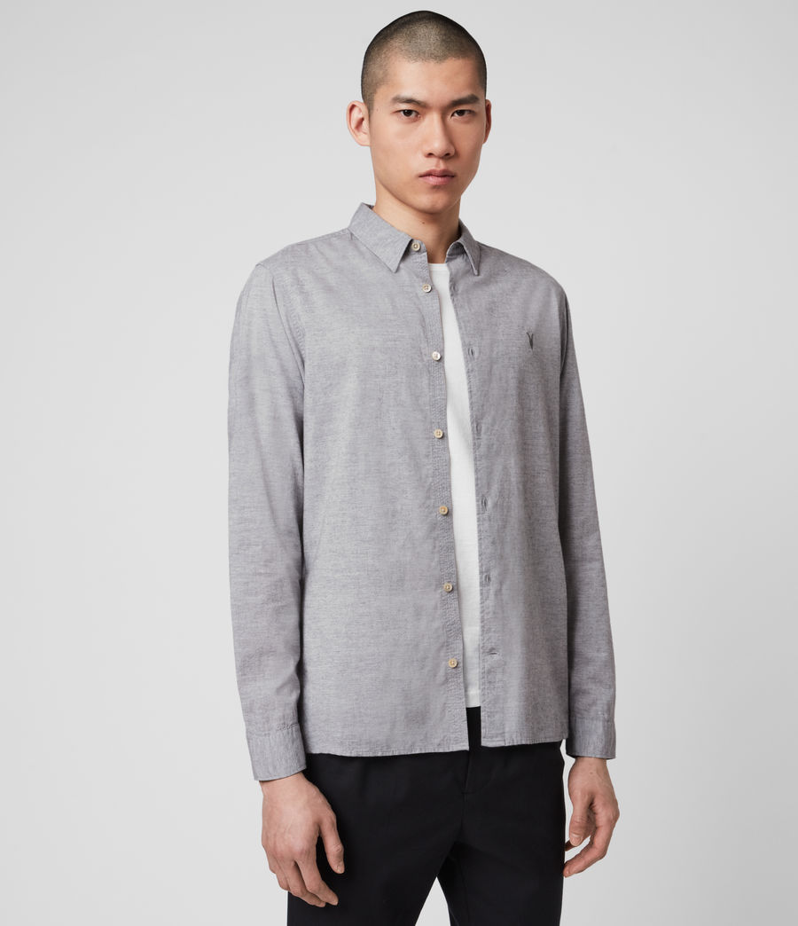 Men's Hester Shirt (grey_marl) - Image 4