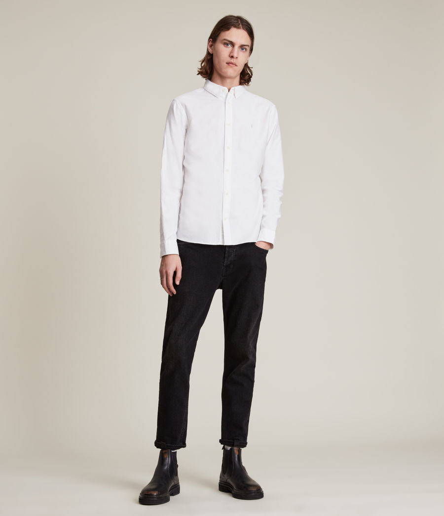 Men's Huntingdon Long Sleeve Shirt (white) - Image 3