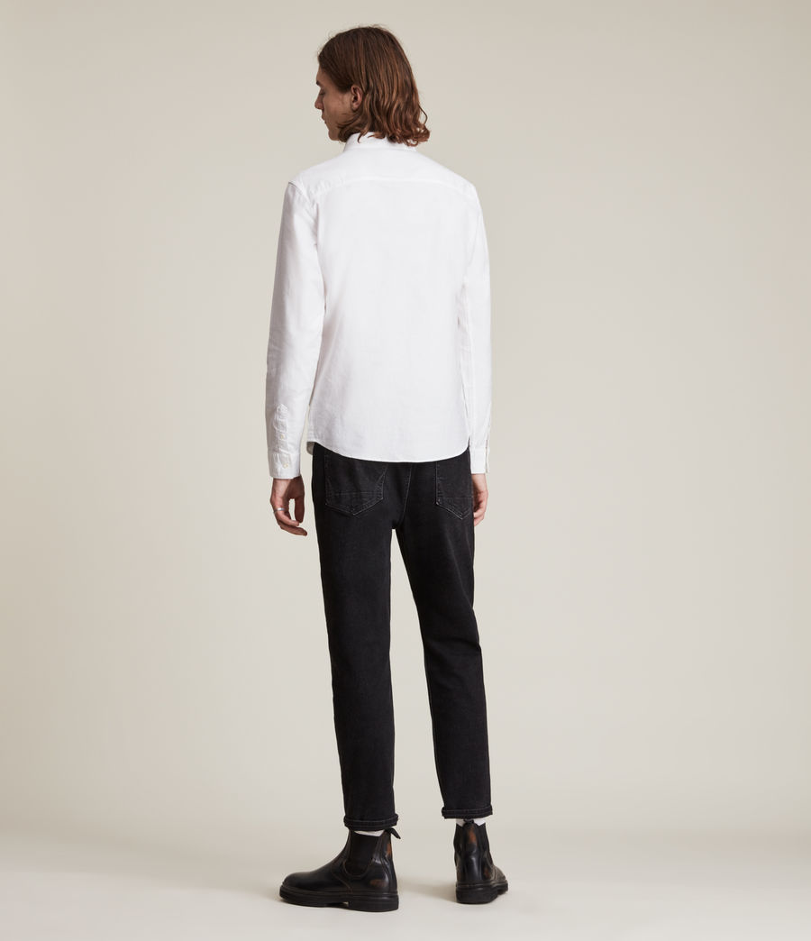 Men's Huntingdon Long Sleeve Shirt (white) - Image 4