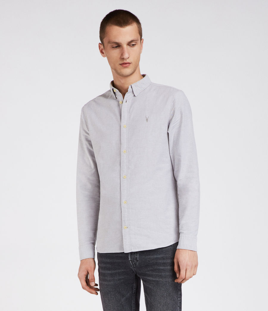 Hombre Camisa Hungtingdon (light_grey) - Image 1