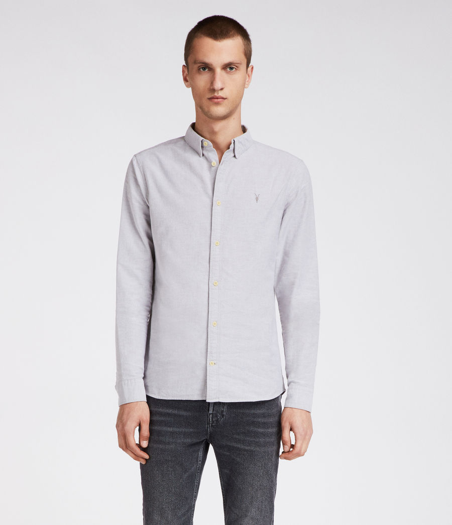 Hombre Camisa Hungtingdon (light_grey) - Image 3