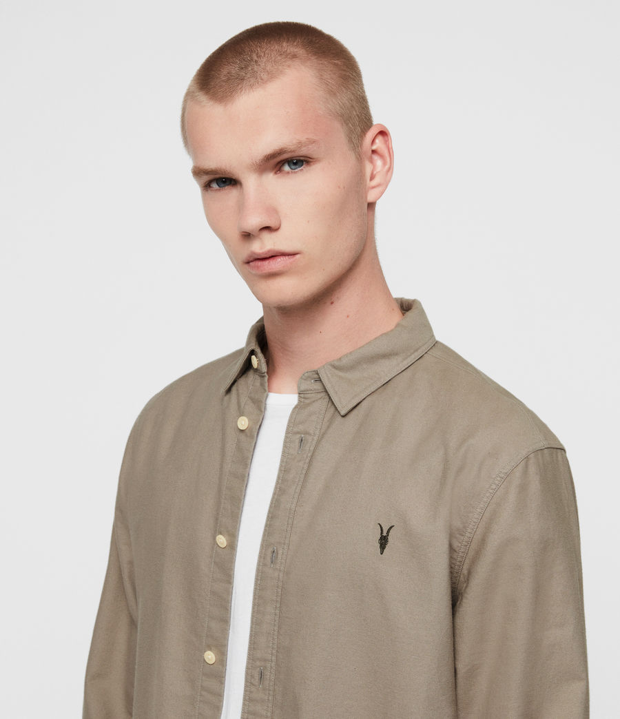 Men's Huntingdon Long Sleeve Shirt (dark_gull_grey) - Image 2